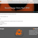"Portfolio Screenshot #3 - ""Mind over Matter Sound"""