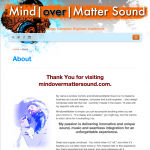 "Portfolio Screenshot #6 - ""Mind over Matter Sound"""
