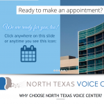 "Portfolio Screenshot #2 - ""North Texas Voice Center"""